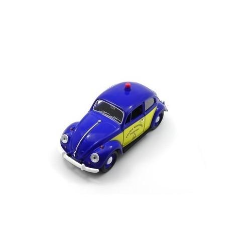 Carrinho California TOYS VW Fusca Policia Rodoviaria 1967 Escala 1:24 24202-4