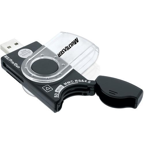 Leitor de Cartao de Memoria T-FLASH SIM/MS/MS PRO/SD/MINI SD/MICRO SD Multilaser AC102