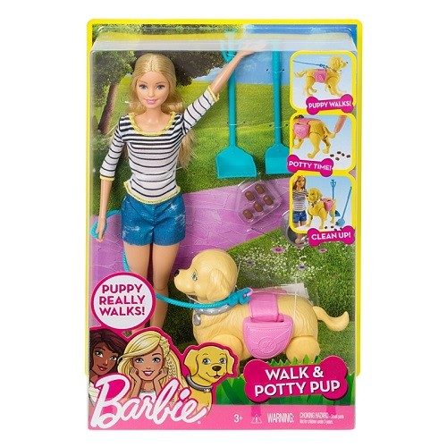 Barbie Familia Passeio com o Cachorrinho Mattel DYH16/DWJ68