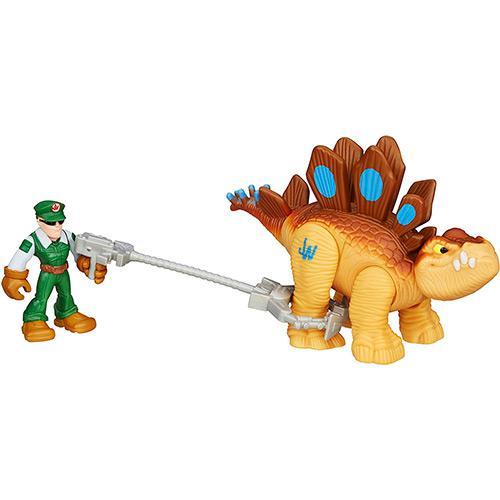 Boneco Jurassic WORLD Dino e Humano Stegosaurus Hasbro B0531/B0533 10582