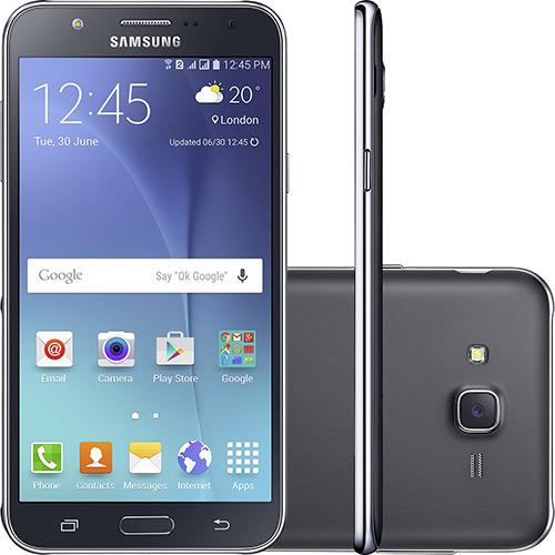 Smartphone Samsung Galaxy J7 Dual Chip Desbloqueado Android 5.1 5.5 16gb 4g 13mp - Preto