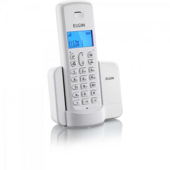 Telefone sem Fio TSF-8001 com ID Branco ELGIN 26655