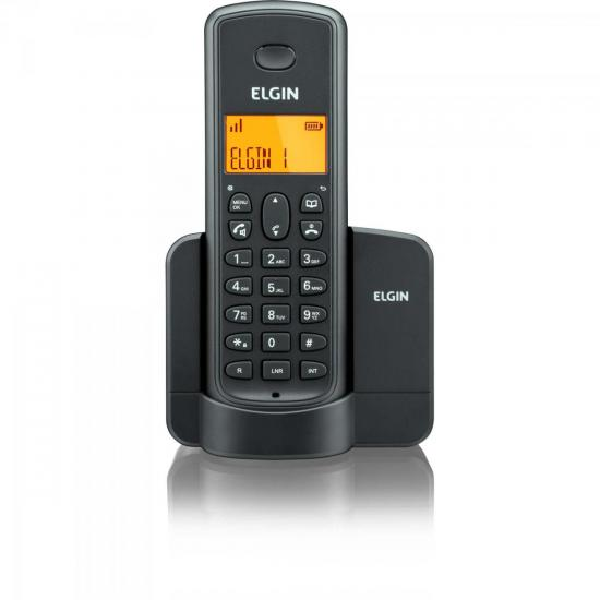 Telefone sem Fio TSF-8001 com ID Preto ELGIN 26654