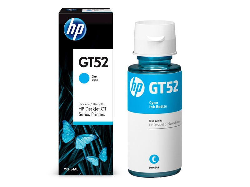 Refil de Tinta HP M0H54AL HP GT52 Ciano 70ML