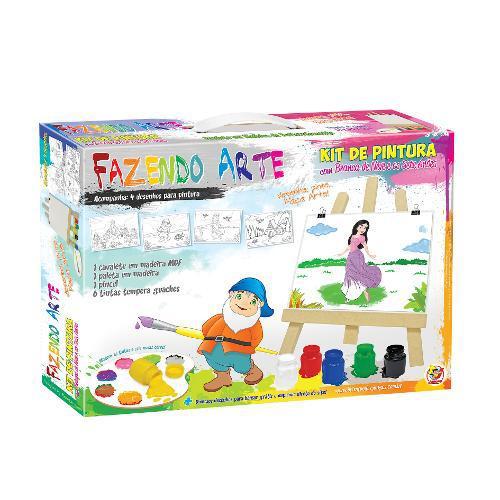Kit de Pintura Fazendo ARTE Branca de Neve Junges 345