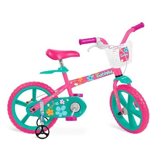 Bicicleta Bandeirante Gatinha Aro 12 Rígida 1 Marcha - Rosa