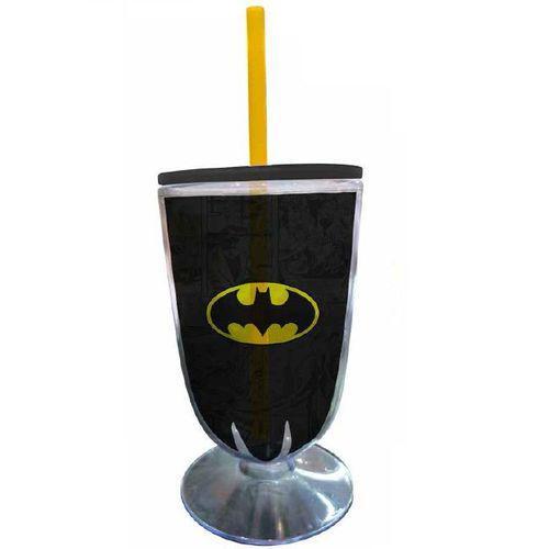 Taça Acrilica Batman Logo Preto e Amarelo URBAN 26884