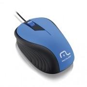 Mouse USB Emborrachado Multilaser MO226 AZUL