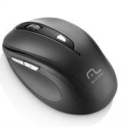 Mouse sem Fio 2.4 GHZ Comfort 6 Botoes Preto USB Multilaser MO237