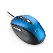 Mouse Comfort 6 Botoes USB AZUL e Preto Multilaser MO244