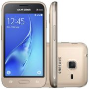 Smartphone Samsung Galaxy J1 Mini Dual CHIP Android 5.1 Tela 4 8GB 3G WI-FI Camera 5MP - Dourado