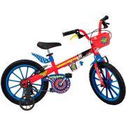 Bicicleta Infantil Liga da Justiça Mulher Maravilha ARO 16 Bandeirante 2365