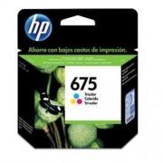 Cartucho HP 675 Jato de Tinta Tricolor 9ML- CN691AL