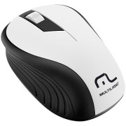 Mouse sem Fio 2.4GHZ Preto e Branco USB 1200DPI PLUG AND PLAY Multilaser MO216