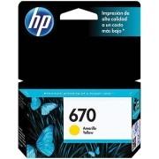 Cartucho HP 670 Amarelo 3,5ML CZ116AB