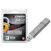 Pen Drive 64GB Criptografia Kingston DTLPG3/64GB Datatraveler Locker+ G3 USB 3.0
