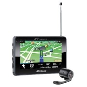 GPS Multilaser Tracker III Tela 4.3 Transmissor FM e Camera de RE GP035