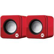 Caixa de Som 2.0 USB 6W RMS (2X 3W) Vinik VS-101 Vermelha