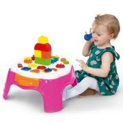 Mesa de Atividades PLAY Time Rosa com Gaveta Cotiplas 2049