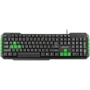 Teclado Multimidia Gamer Teclas Verdes USB Multilaser TC201