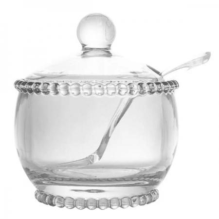 Açucareiro Cristal com Colher Pearl WOLFF 28379