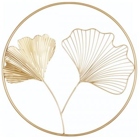 Adorno de Parede 45CM Decorativo em Metal Dourado MART 13377