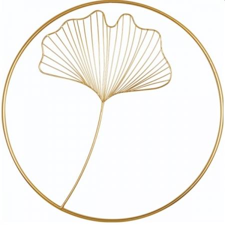 Adorno de Parede 45CM Decorativo em Metal Dourado MART 13379