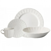 Aparelho de Jantar Corona Caribe Branco 16 Peças Yoi 810300467