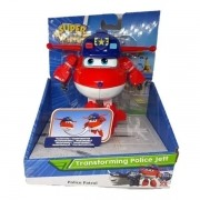 Aviao Super WINGS Mission Teams Transforming Police JETT FUN 8491-3