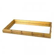 Bandeja de Bambu com Espelho 46X26X4CM Woodart 11611