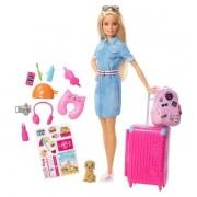 Barbie Explorar e Descobrir Barbie Viajante Mattel FWV25