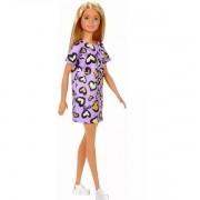 Barbie Fashion Mattel Loira Vestido Roxo T7439/GHW49