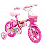 Bicicleta Infantil ARO 12 Flower Rosa Stone Bike 229