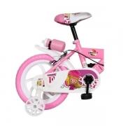 Bicicleta Infantil ARO 14 Bike da Turma Rosa Unitoys 1500
