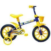 Bicicleta TRACK & Bikes ARCO-IRIS ARO 12´´ Amarela e AZUL 49626
