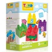 Blocos de Montar TAND BABY Animais e Seus Numeros 5 Pecas Toyster 2185