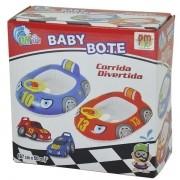 Boia Infantil BABY Bote Corrida Divertida AZUL DM TOYS DMS5416