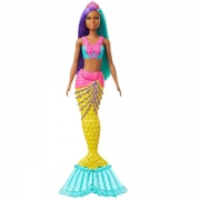 Boneca Barbie Dreamtopia Sereia Cauda AMARELO/ROSA Mattel GJK07