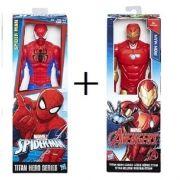 Boneco Avengers Homem de Ferro e Homem ARANHA Hasbro