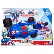 Boneco e Veiculo Super Hero Adventure Capitao America Hasbro E0156 13190