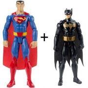 Boneco Liga da Justiça Batman e Superman Mattel