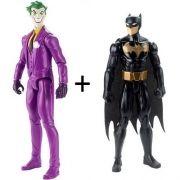 Boneco Liga da Justiça Coringa e Batman Mattel