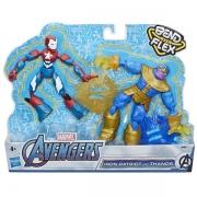 Bonecos Articulados Avengers BEND FLEX Thanos e IRON Patriot Hasbro E9197 15049