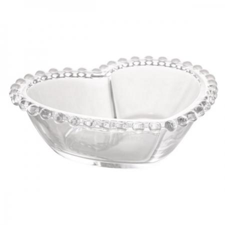 Bowl de Cristal Coraçao Bolinha Pearl WOLFF 28376