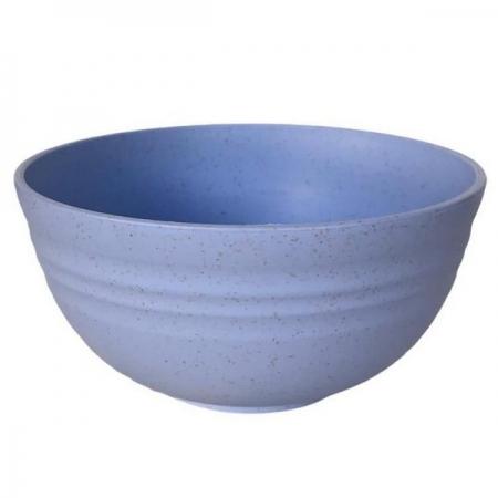 Bowl em Plastico 12 X 6CM Lines AZUL LYOR 1367
