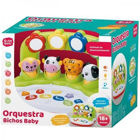 Brinquedo Musical Orquestra Bichos BABY Guta Guti DM TOYS DMB5810