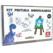 Brinquedo para Colorir Dinossauros C/04 Telas Brincadeira de Crianca 8535