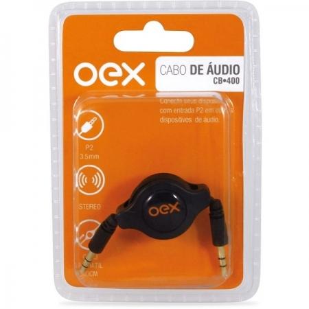 Cabo Retratil de Audio 80CM OEX CB400