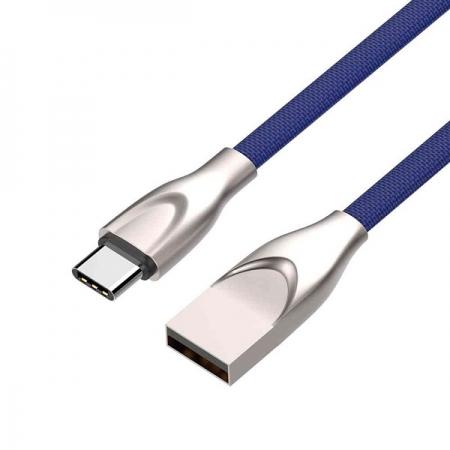 Cabo USB X USB-C 1M 2,4A CB-C180BL AZUL C3 TECH