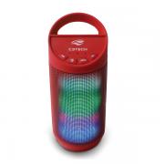 Caixa de Som Portatil Beat Bluetooth 8 WATTS RMS USB 2.0 WMA MP3 Vermelho SP-B50RD C3 TECH